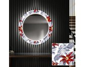 Rond verlichte decoratieve spiegel LED voor de gang - Sea Flowers