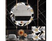 Ronde decoratieve spiegel met LED-verlichting voor in de eetkamer - Marble Pattern