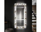 Decoratieve spiegel met LED-verlichting voor in de gang - Golden Flowers