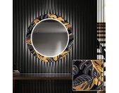 Ronde decoratieve spiegel met LED-verlichting voor in de gang - Autumn Jungle