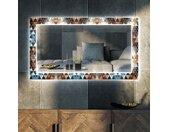Decoratieve spiegel met LED-verlichting voor in de woonkamer - Color Triangles