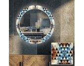 Ronde decoratieve spiegel met LED-verlichting voor in de woonkamer - Color Triangles