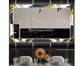 Decoratieve spiegel met LED-verlichting voor in de eetkamer - Bells Flowers