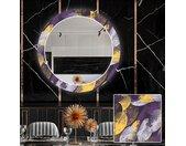 Ronde decoratieve spiegel met LED-verlichting voor in de eetkamer - Round Stamp
