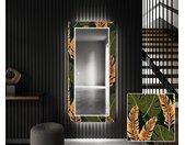 Decoratieve spiegel met LED-verlichting voor in de gang - Botanical Flowers