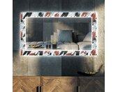 Decoratieve spiegel met LED-verlichting voor in de woonkamer - Leaves