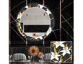 Ronde decoratieve spiegel met LED-verlichting voor in de eetkamer - Bells Flowers