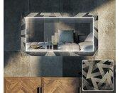 Decoratieve spiegel met LED-verlichting voor in de woonkamer - Dotted Triangles