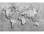 Magneetbord Beton Wereldkaart