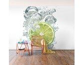 Vliesbehang Lime Bubbles