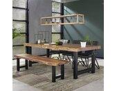 Industriële eetkamerbank Timber acaciahout 190 cm