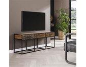Industrieel tv-meubel Floor hardhout 3 lades