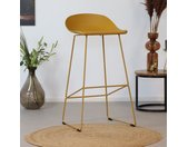 Barkruk Ellen geel Scandinavisch design 76 cm