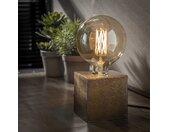 Industriële tafellamp Box antiek brons