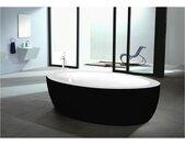 Vrijstaande badkuip MARMARA  - 206L - 185*91*58cm - zwart