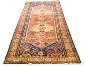 morgenland wollen kleed Hamadan Teppich handgeknüpft blau handgeknoopt