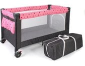 CHIC4BABY Baby-campingbed Luxe, sterretje grijs