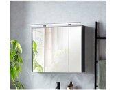 Schildmeyer Spiegelkast Breedte 83,5 cm, 3-deurs, ledverlichting, stekkerdoos, soft-closefunctie, glasplateaus, voorgemonteerd, made in Germany