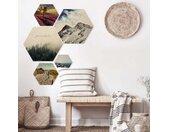 Wall-Art Meerdelige artprint Natuur Collage landschap beelden (set, 5 stuks)