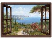 Artland Artprint Blik uit het venster lenteochtend in vele afmetingen & productsoorten -artprint op linnen, poster, muursticker / wandfolie ook geschikt voor de badkamer (1 stuk)