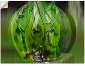 Artland Artprint Blik uit het venster merelgesprekken in de lente in vele afmetingen & productsoorten - artprint van aluminium / artprint voor buiten, artprint op linnen, poster, muursticker / wandfolie ook geschikt voor de badkamer (1 stuk)