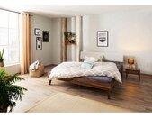 Home affaire Massief houten ledikant Natali van notenhout massief hout, futonbed, bedframe in een sublieme verwerking