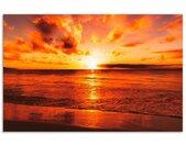 Artland Keukenwand Mooie zonsondergang strand zelfklevend in vele maten - spatscherm keuken achter kookplaat en spoelbak als wandbescherming tegen vet, water en vuil - achterwand, wandbekleding van aluminium (1-delig)