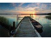 Wall-Art Vliesbehang Sunset at the lake