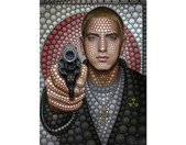 Wall-Art Vliesbehang Ben Heine Circlism: Eminem