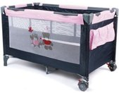 CHIC4BABY Baby-campingbed Luxus Pink Checker incl. draagtas