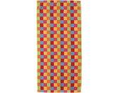 Cawö Saunalaken Lifestyle Cubes met gekleurde ruitjes (1 stuk)