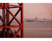 Wall-Art Aluminium-dibondprint Voor de poorten van San Francisco 60/40 cm
