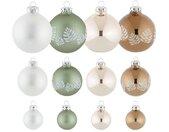 Thüringer Glasdesign Kerstbal Naturel (set, 30 stuks)
