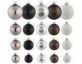 Thüringer Glasdesign Kerstbal Black & white (set, 50 stuks)