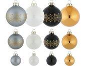 Thüringer Glasdesign Kerstbal Blauwe dennen krans (set, 30 stuks)