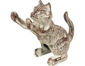 Ambiente Haus Dierfiguur Deurstopper van gietijzer - kat (1 stuk)