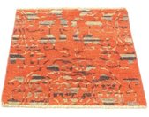 morgenland wollen kleed Designer Teppich handgeknüpft orange handgeknoopt