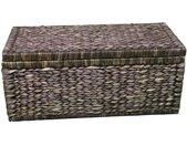 ARTRA Dekenkist Artra design vlechtwerk dekenkist met klepdeksel 80 cm, bruin