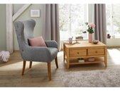 Home affaire Oorfauteuil Shabelle in twee verschillende kleuren en leuke hout-look, zithoogte 47 cm