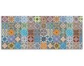 Artland Keukenwand Gedessineerde keramische tegels zelfklevend in vele maten - spatscherm keuken achter kookplaat en spoelbak als wandbescherming tegen vet, water en vuil - achterwand, wandbekleding van aluminium (1-delig)