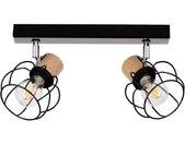BRITOP LIGHTING Plafondlamp Phiphi Decoratieve lamp van metaal met elementen van eikenhout met FSC®-certificaat, bijpassende LM E27 / exclusief, Made in Europe (1 stuk)