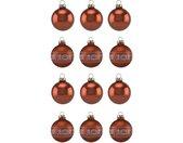 Thüringer Glasdesign Kerstbal Koperkleur Glans Made in Germany (set, 12 stuks)