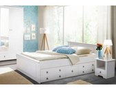 Home affaire Slaapkamerserie Hugo Bed 140 cm, 2-deurs kledingkast en 1 nachtkastje (set, 3 stuks)