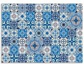 Artland Keukenwand Oriëntaalse tegels zelfklevend in vele maten - spatscherm keuken achter kookplaat en spoelbak als wandbescherming tegen vet, water en vuil - achterwand, wandbekleding van aluminium (1-delig)