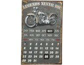 Ambiente Haus Metalen artprint kalender - biker 25x40cm (1 stuk)
