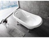 welltime Badkuip VICTORIA Bxd: 178 x 85 cm, vrijstaande badkuip (3-delig)