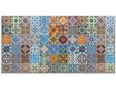 Artland Print op glas Gedessineerde keramische tegels (1 stuk)