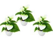 I.GE.A. Kunstplant Mini Anthurie (set, 3 stuks)