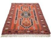 morgenland wollen kleed Turkaman Teppich handgeknüpft orange