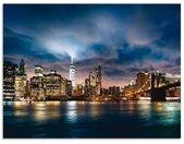 Artland Keukenwand Zonsopkomst boven Manhattan zelfklevend in vele maten - spatscherm keuken achter kookplaat en spoelbak als wandbescherming tegen vet, water en vuil - achterwand, wandbekleding van aluminium (1-delig)